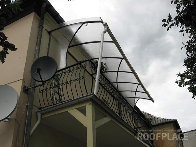 Крыша из поликарбоната Фото 4