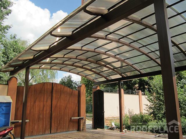 Крыша из поликарбоната Фото 7