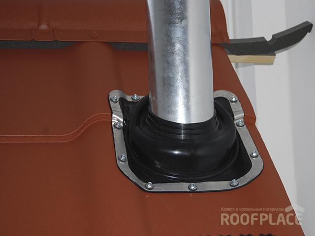 Как заделать трубу на крыше Фото 2