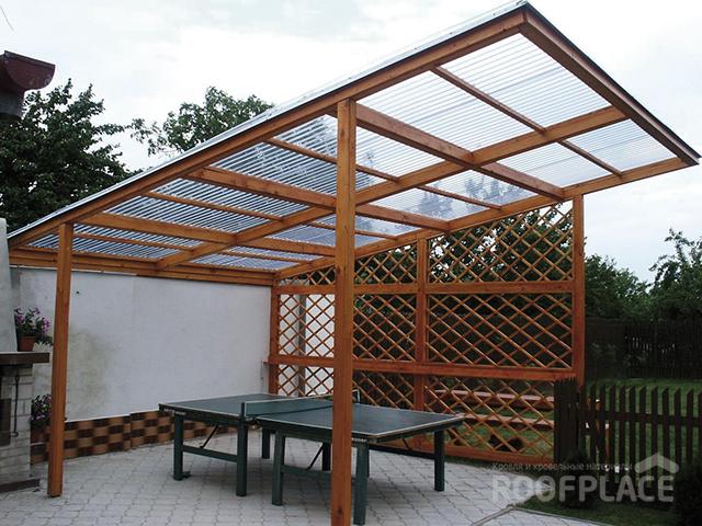 Крыша из поликарбоната Фото 2