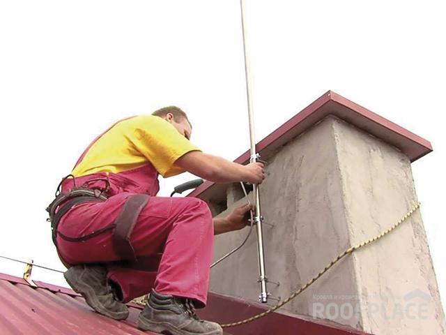 Молниезащита крыши Фото 1