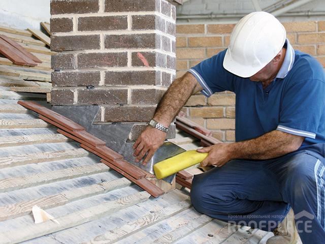 Как заделать трубу на крыше Фото 5